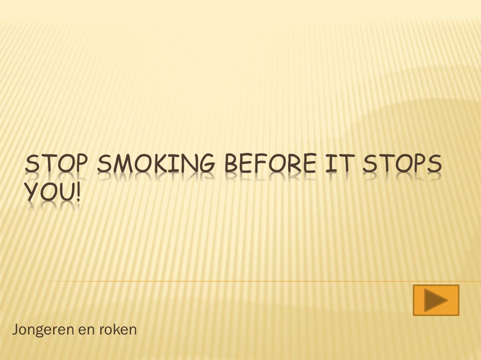 Stop smoking before it stops you!