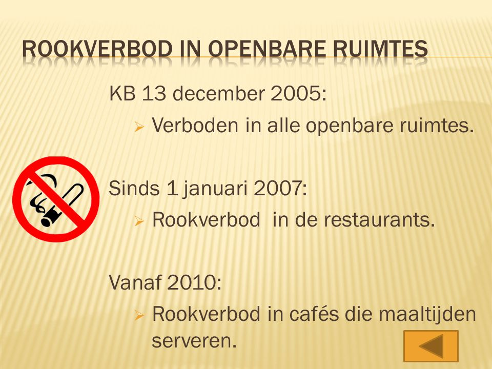 Rookverbod in openbare ruimtes