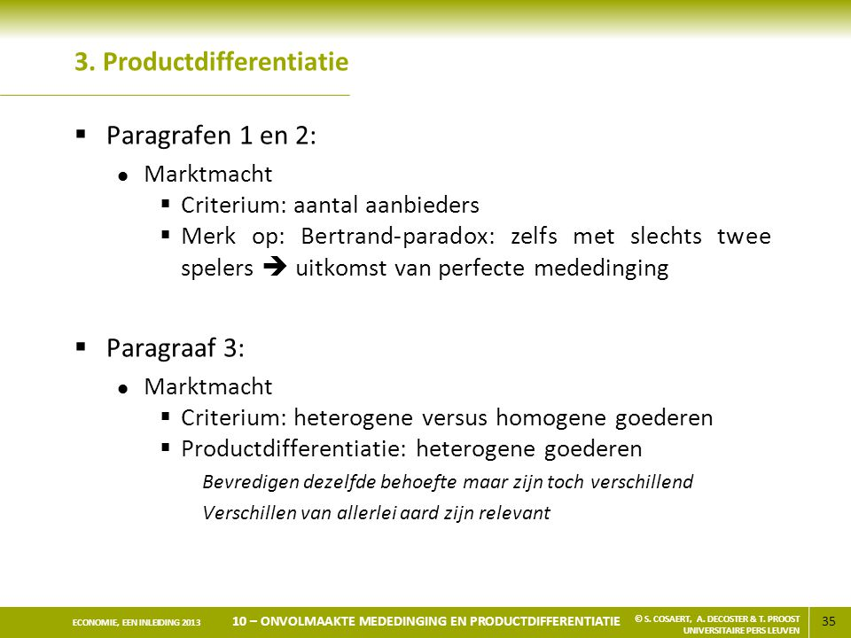3. Productdifferentiatie