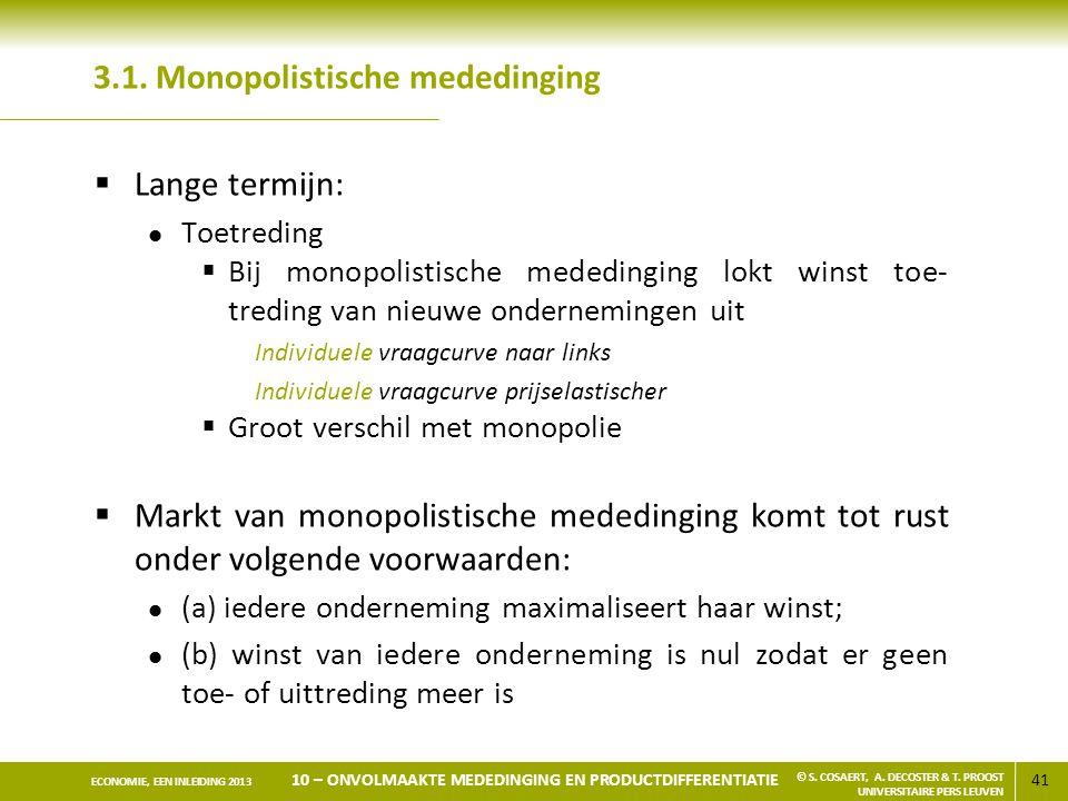 3.1. Monopolistische mededinging