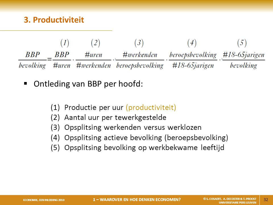 Ontleding van BBP per hoofd: