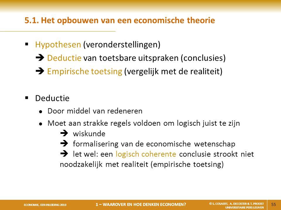 5.1. Het opbouwen van een economische theorie