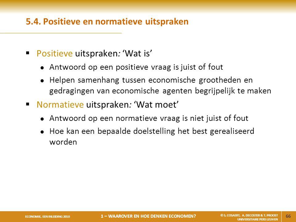 5.4. Positieve en normatieve uitspraken