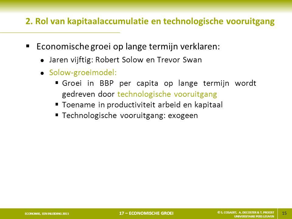 2. Rol van kapitaalaccumulatie en technologische vooruitgang