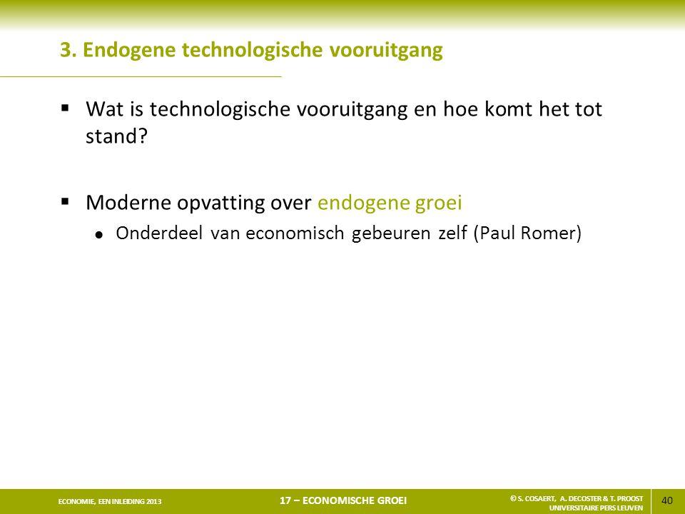 3. Endogene technologische vooruitgang