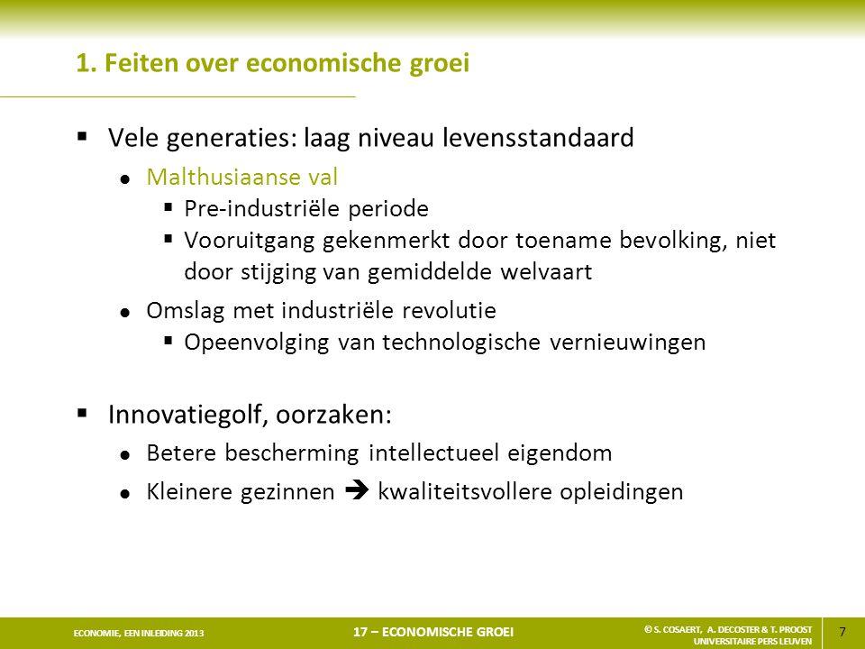1. Feiten over economische groei