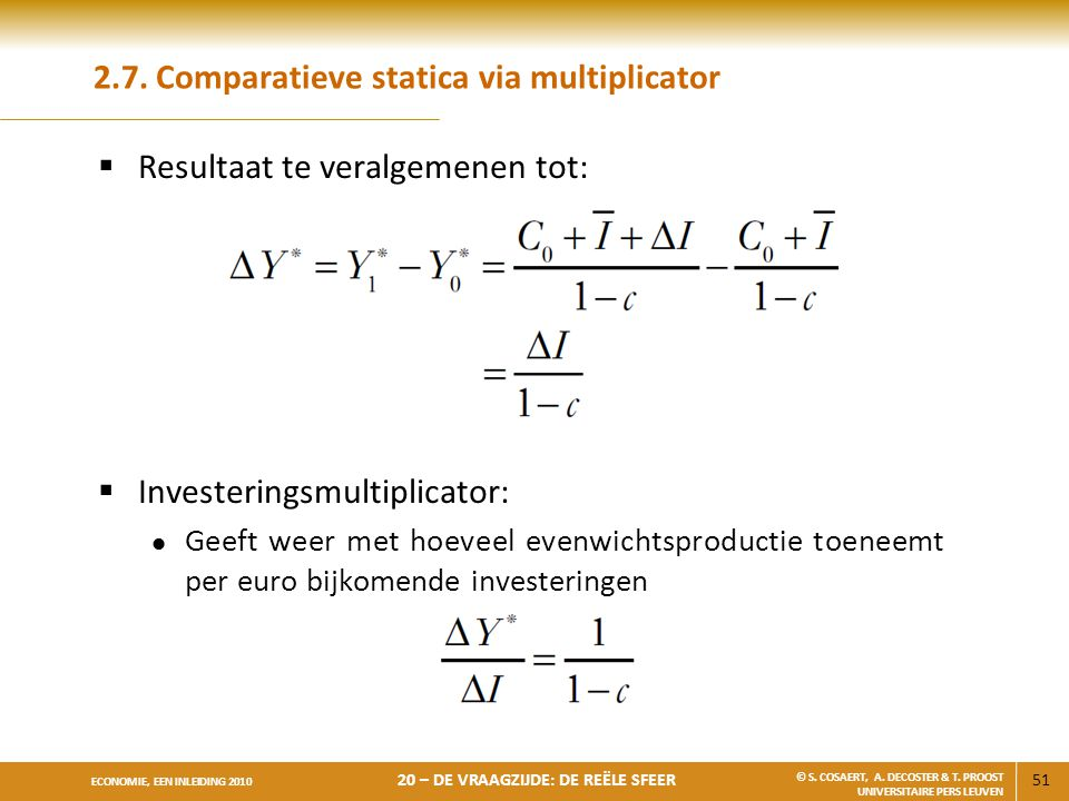 2.7. Comparatieve statica via multiplicator