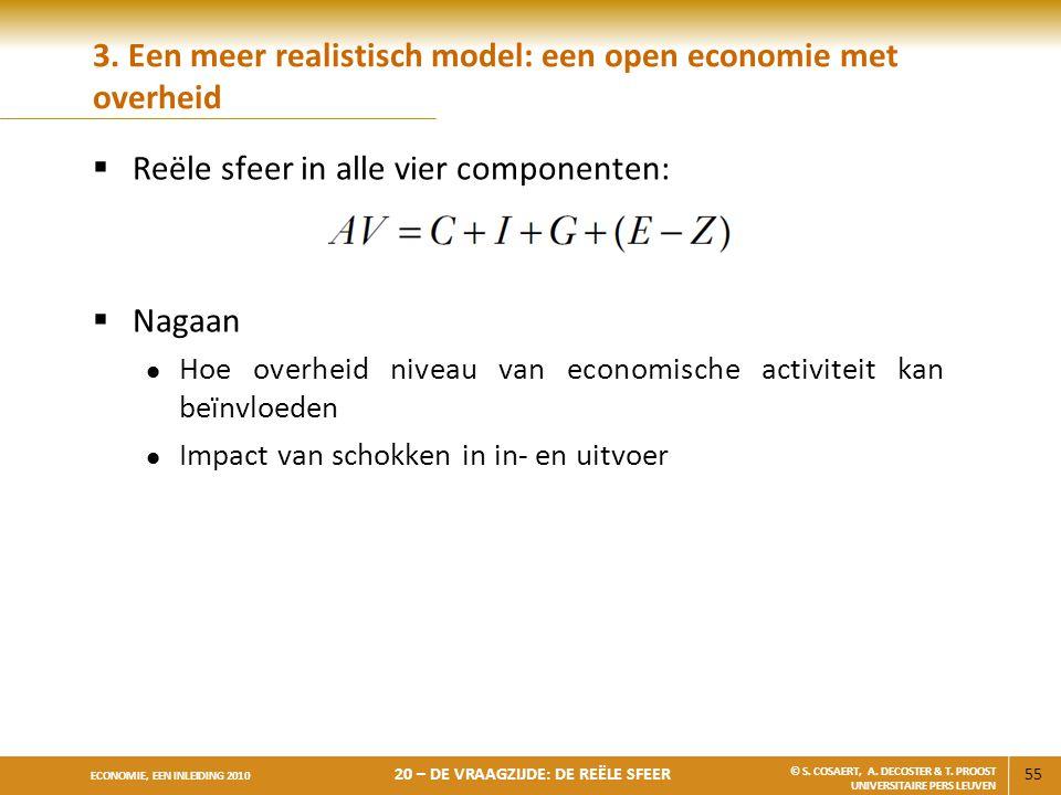 3. Een meer realistisch model: een open economie met overheid