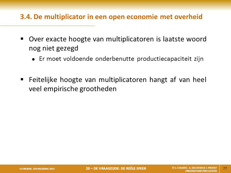 3.4. De multiplicator in een open economie met overheid
