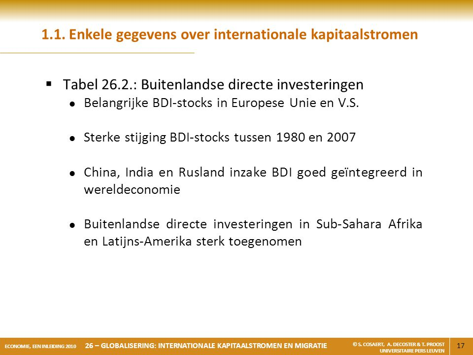 1.1. Enkele gegevens over internationale kapitaalstromen