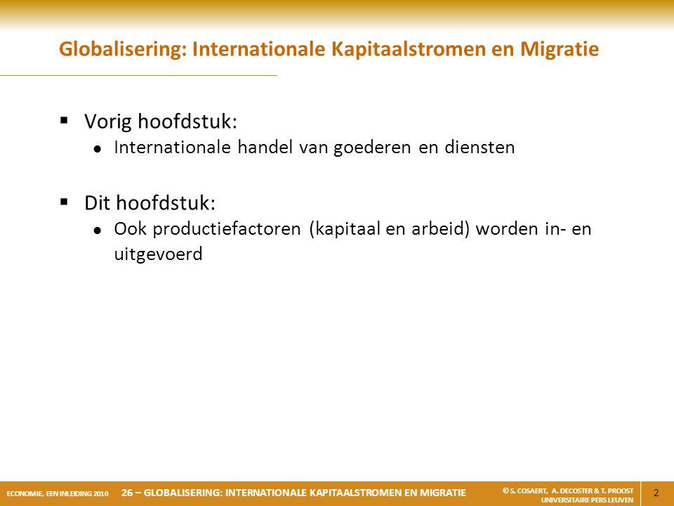 Globalisering: Internationale Kapitaalstromen en Migratie