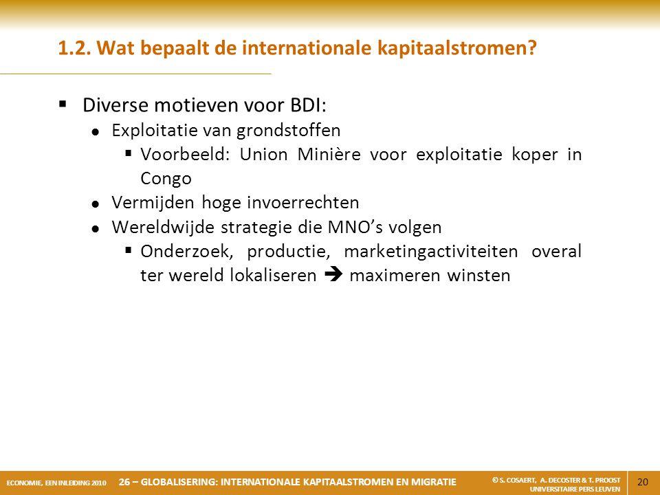 1.2. Wat bepaalt de internationale kapitaalstromen