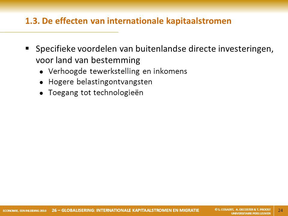 1.3. De effecten van internationale kapitaalstromen