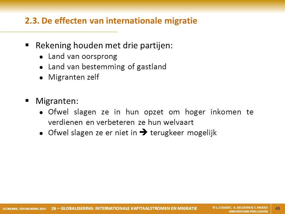 2.3. De effecten van internationale migratie