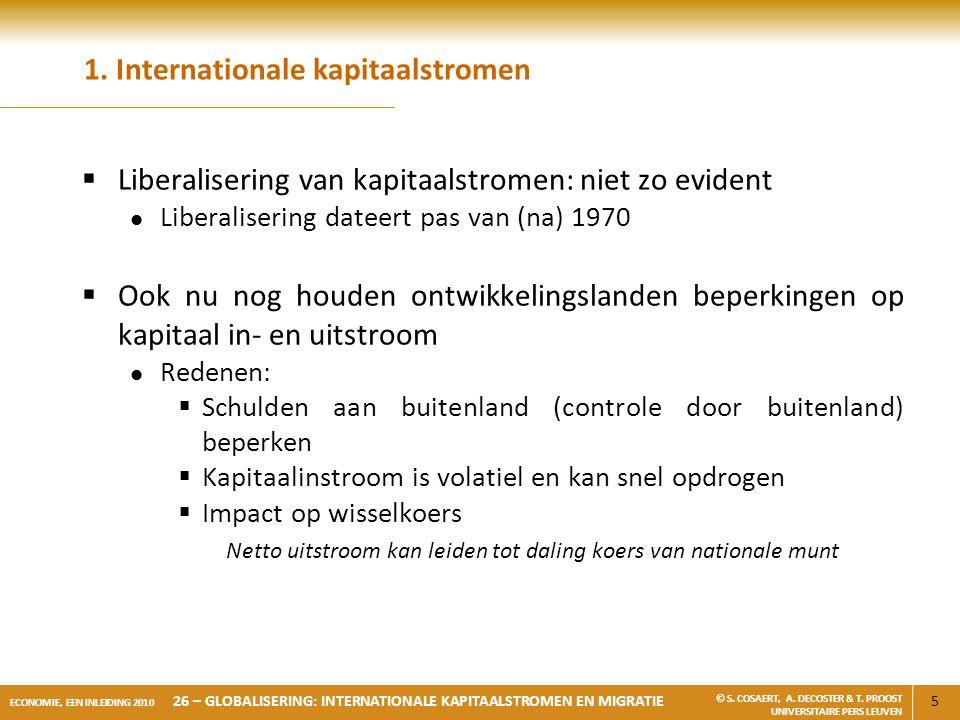 1. Internationale kapitaalstromen