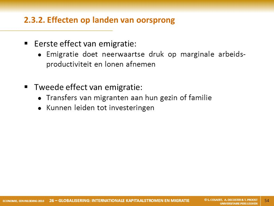 2.3.2. Effecten op landen van oorsprong