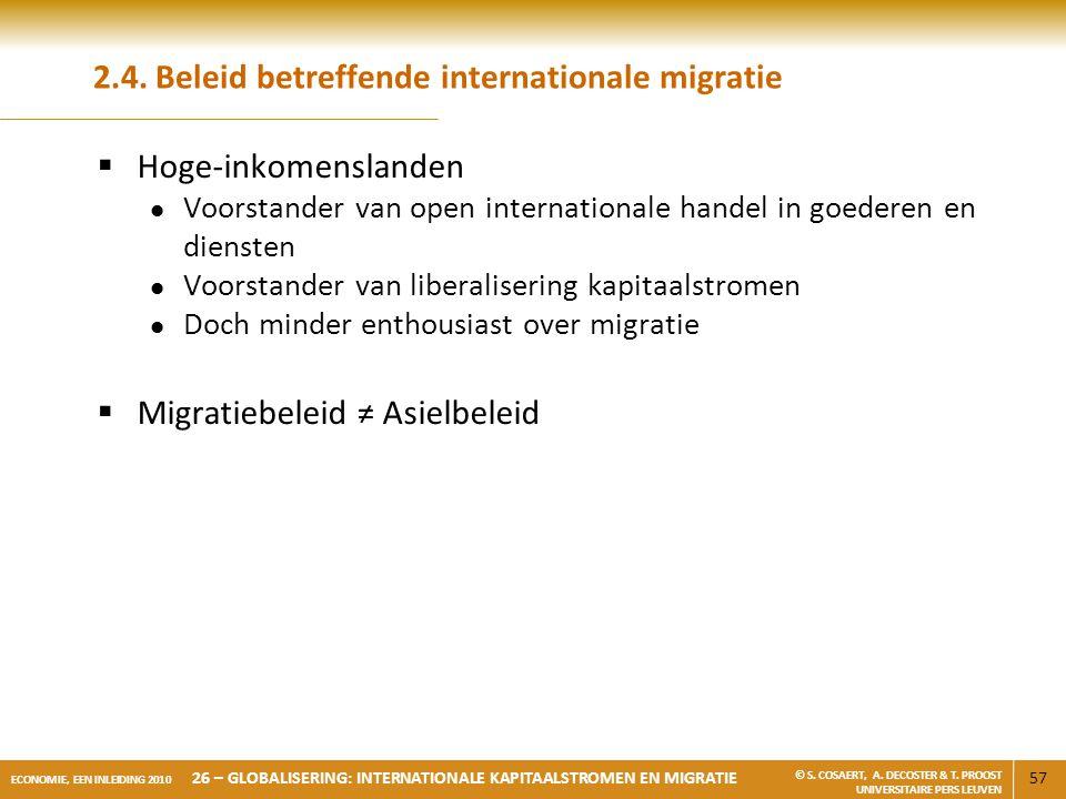 2.4. Beleid betreffende internationale migratie