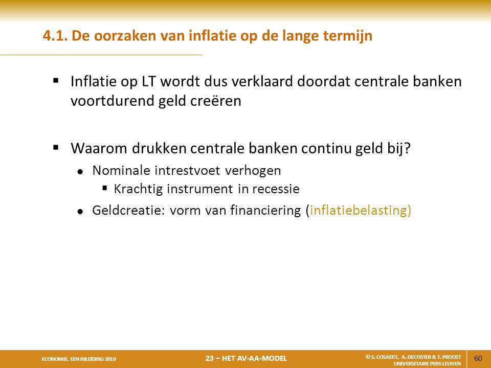 4.1. De oorzaken van inflatie op de lange termijn