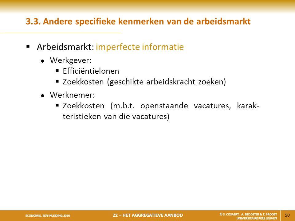 3.3. Andere specifieke kenmerken van de arbeidsmarkt