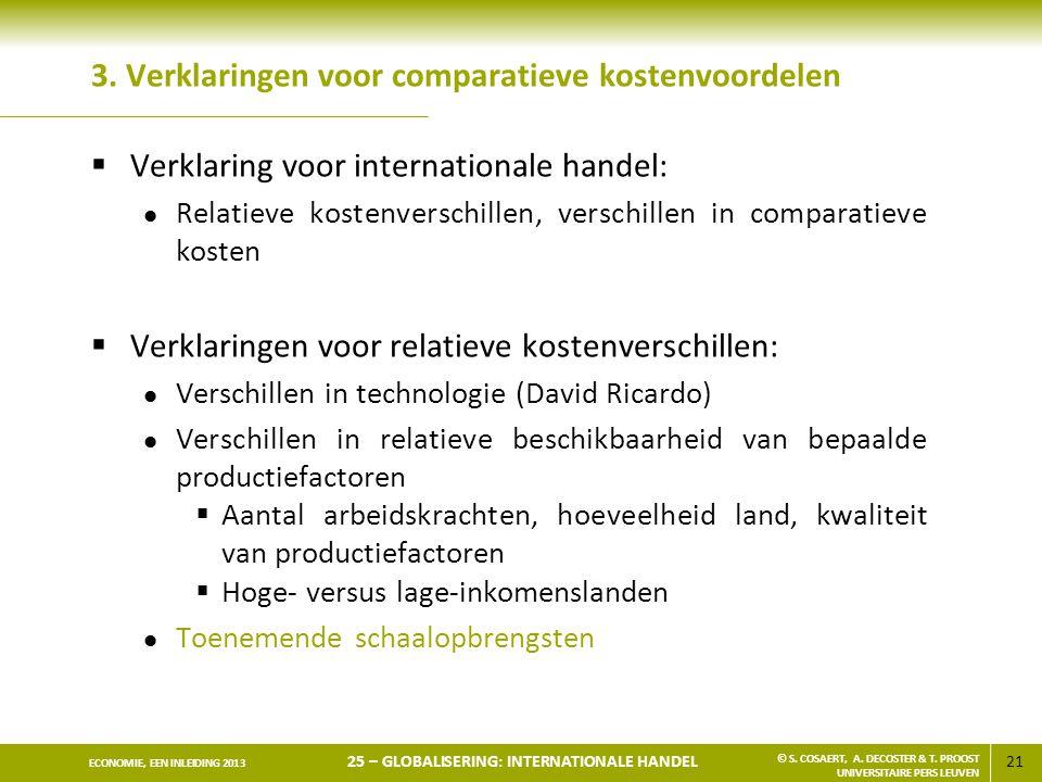 3. Verklaringen voor comparatieve kostenvoordelen