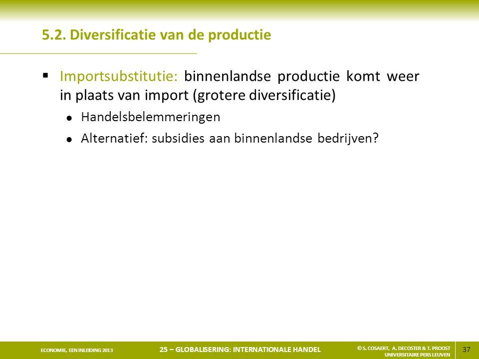 5.2. Diversificatie van de productie