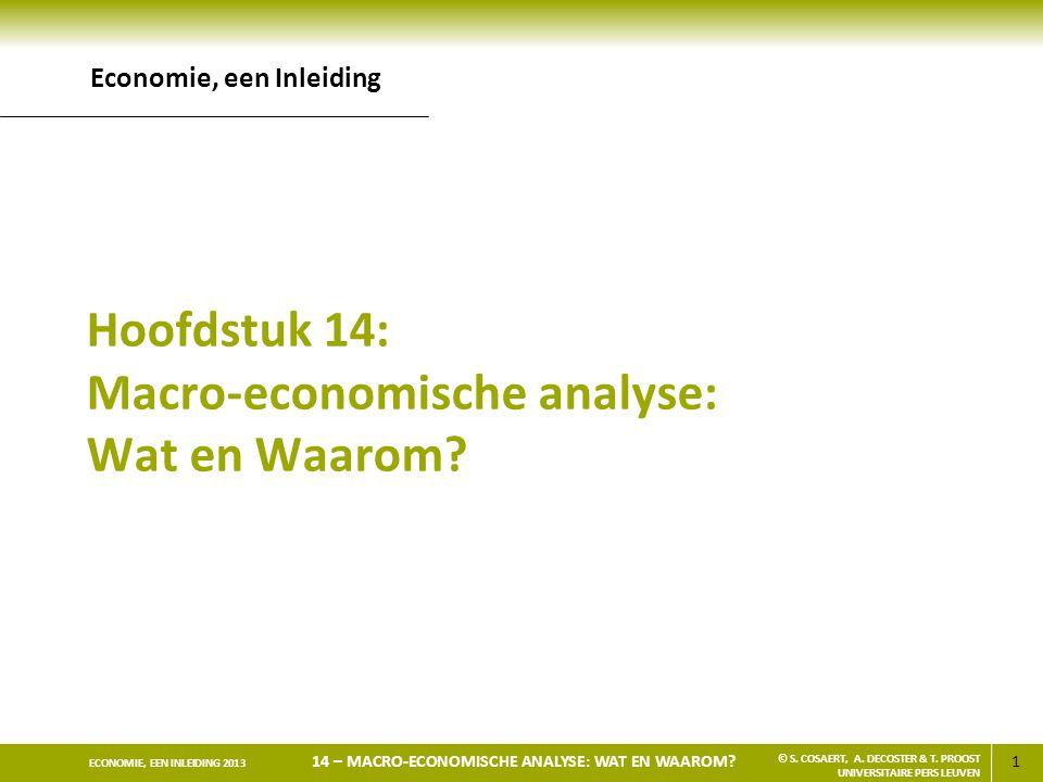 Hoofdstuk 14: Macro-economische analyse: Wat en Waarom