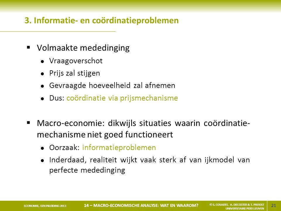 3. Informatie- en coördinatieproblemen