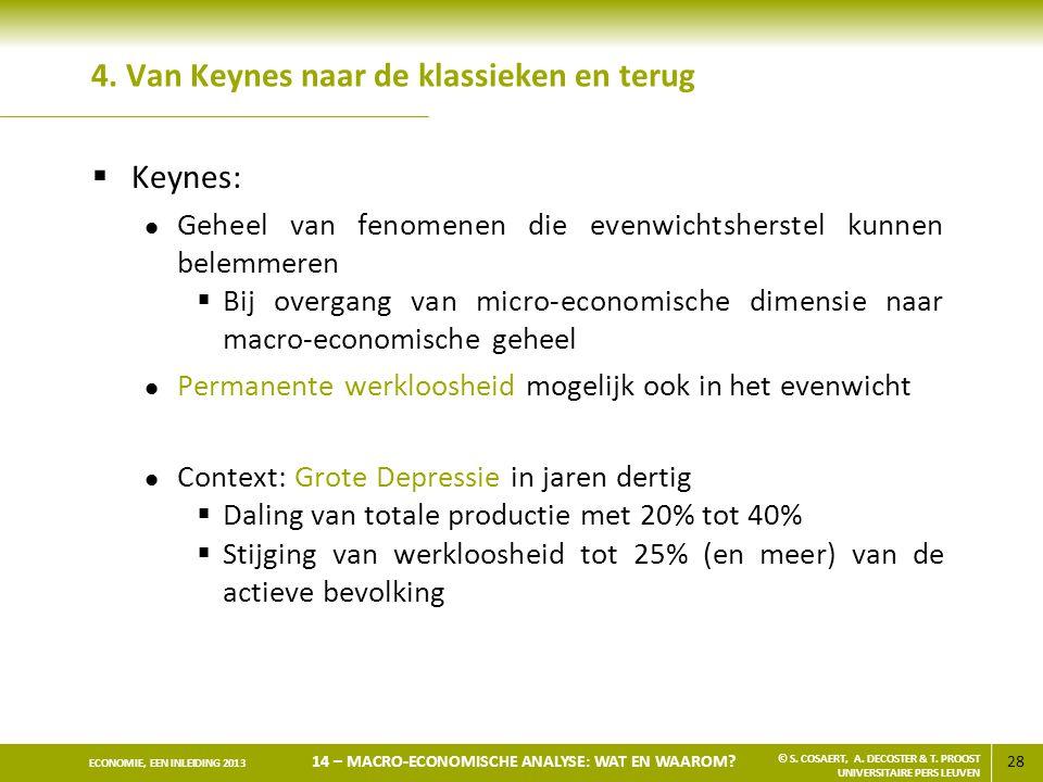 4. Van Keynes naar de klassieken en terug