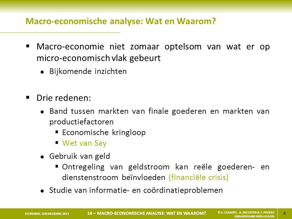 Macro-economische analyse: Wat en Waarom