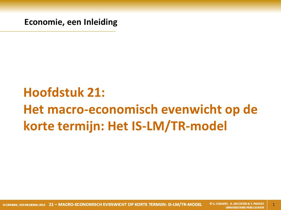 Economie, een Inleiding
