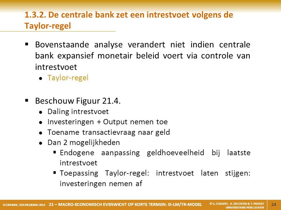 1.3.2. De centrale bank zet een intrestvoet volgens de Taylor-regel