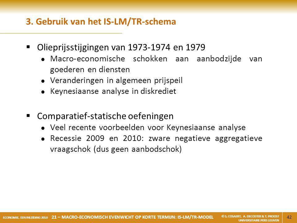 3. Gebruik van het IS-LM/TR-schema