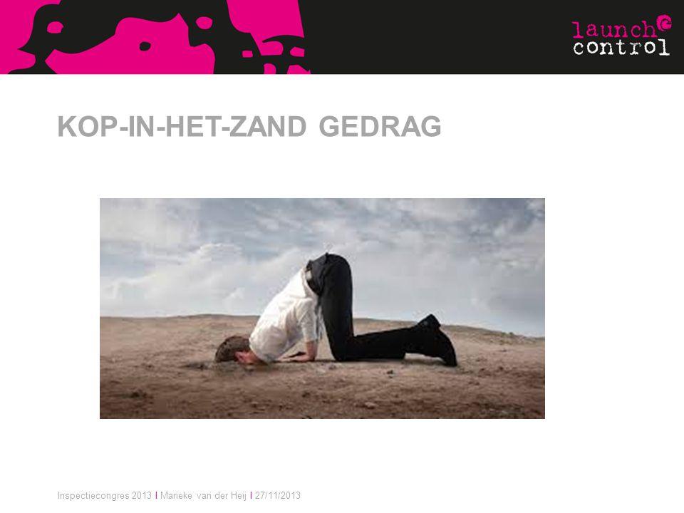 KOP-IN-HET-ZAND GEDRAG