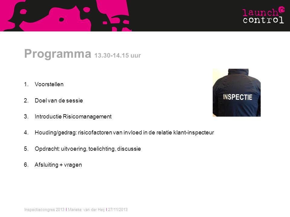 Programma 13.30-14.15 uur Voorstellen Doel van de sessie