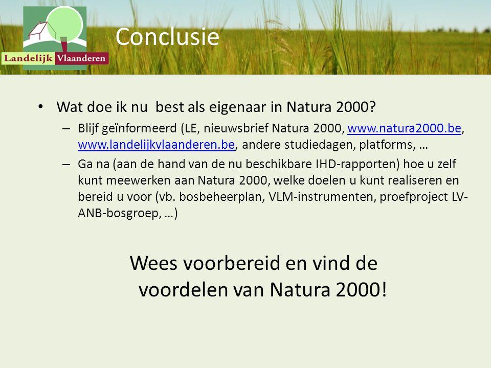 Wees voorbereid en vind de voordelen van Natura 2000!