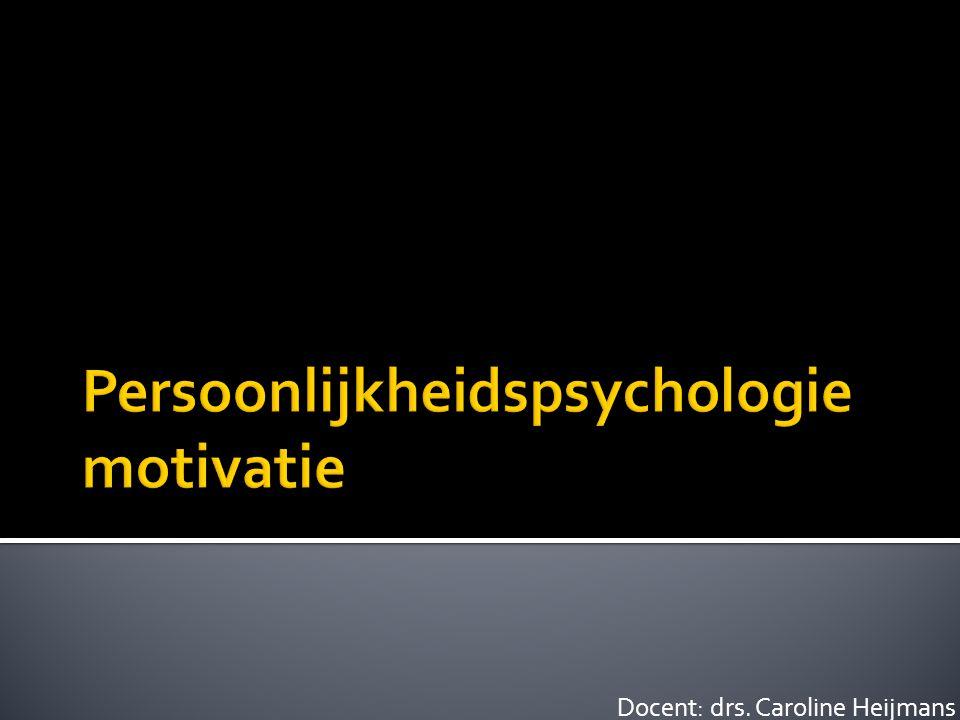 Persoonlijkheidspsychologie motivatie