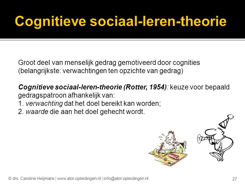 Cognitieve sociaal-leren-theorie