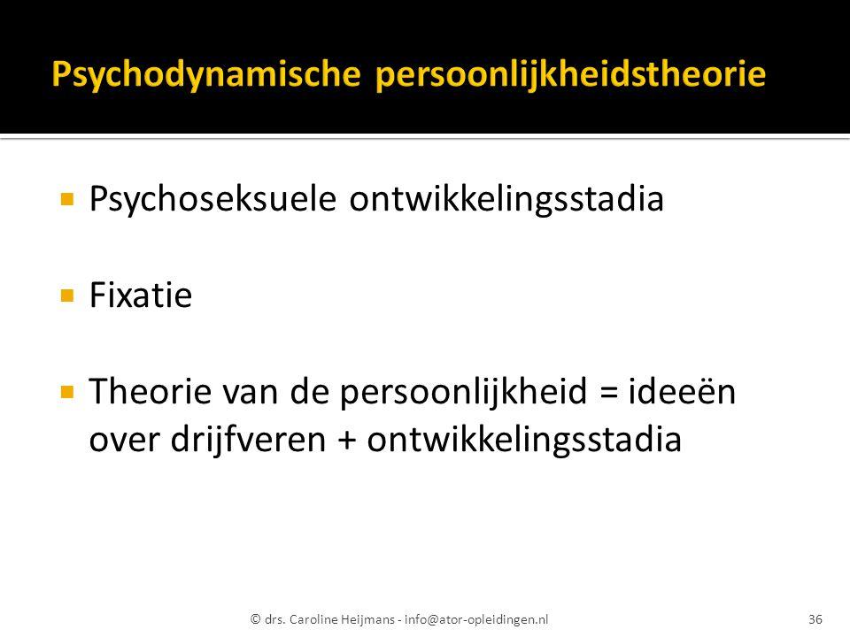 Psychodynamische persoonlijkheidstheorie