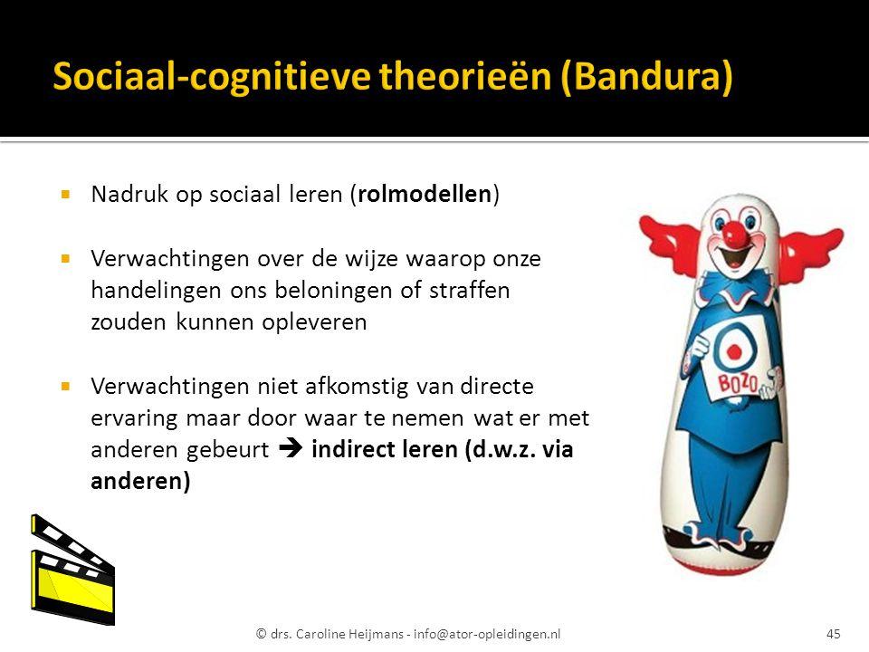 Sociaal-cognitieve theorieën (Bandura)