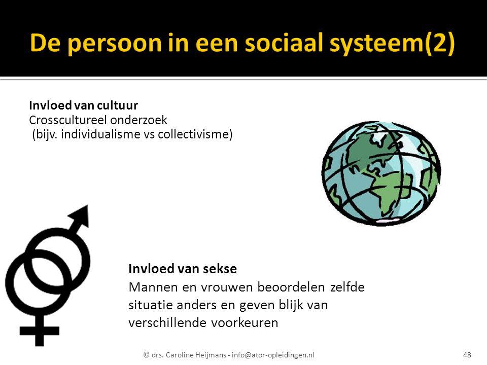 De persoon in een sociaal systeem(2)