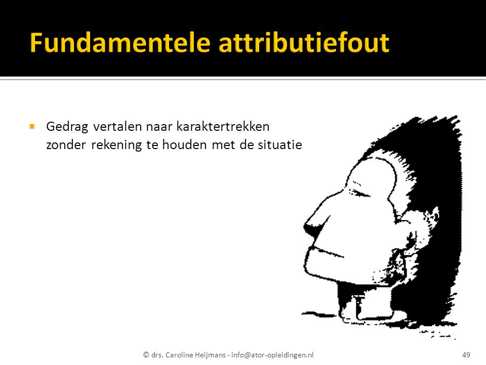Fundamentele attributiefout