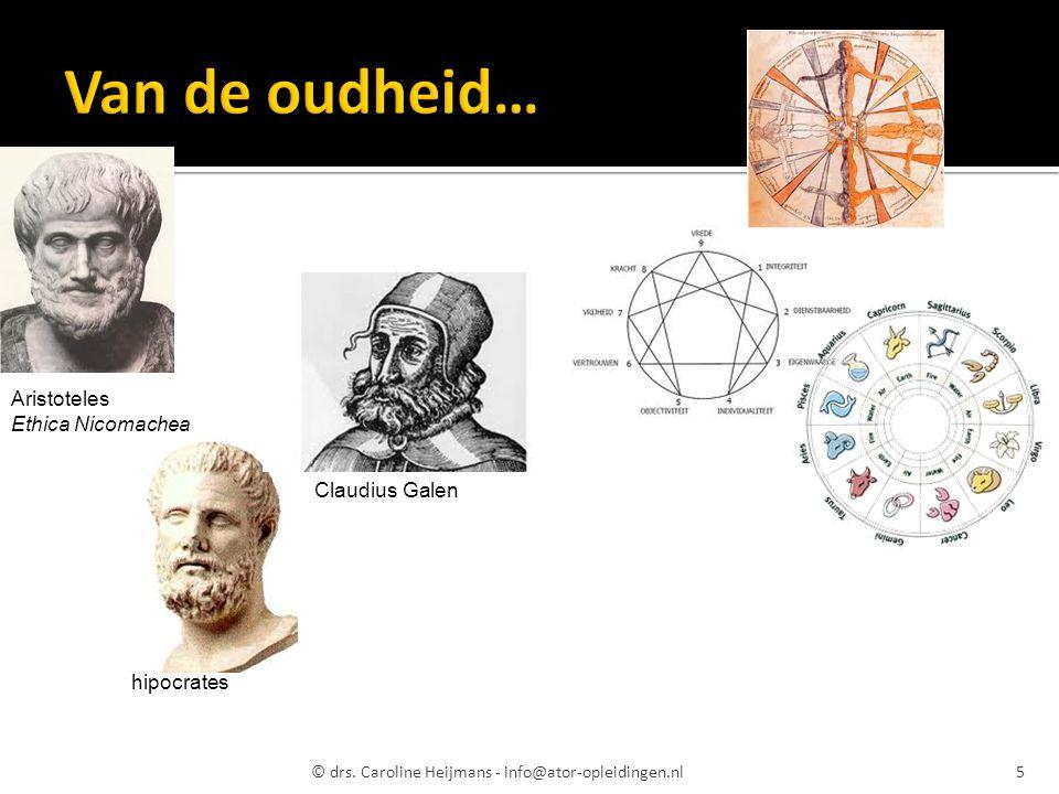 Van de oudheid… Aristoteles Ethica Nicomachea Claudius Galen