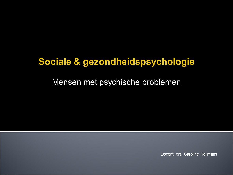 Sociale & gezondheidspsychologie