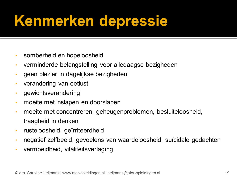 Kenmerken depressie somberheid en hopeloosheid