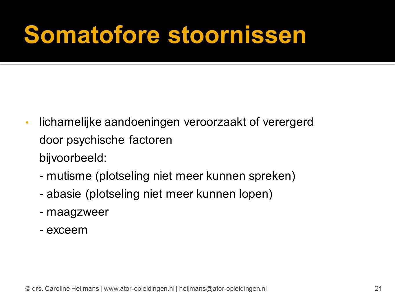 Somatofore stoornissen