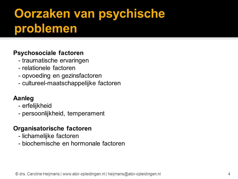 Oorzaken van psychische problemen