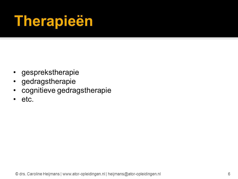 Therapieën gesprekstherapie gedragstherapie cognitieve gedragstherapie