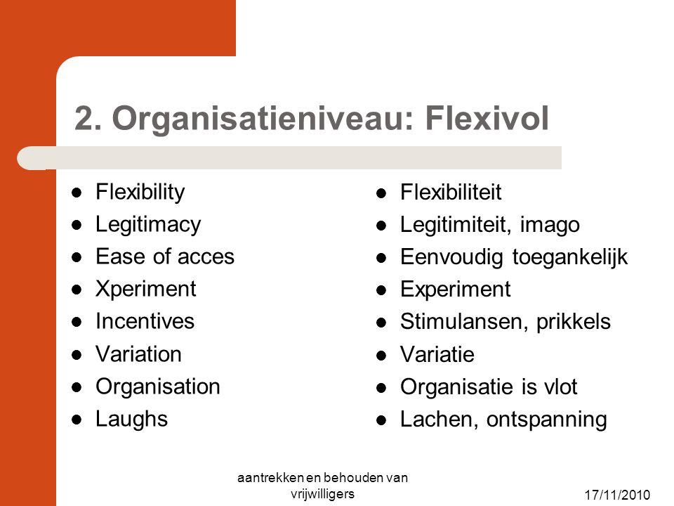2. Organisatieniveau: Flexivol