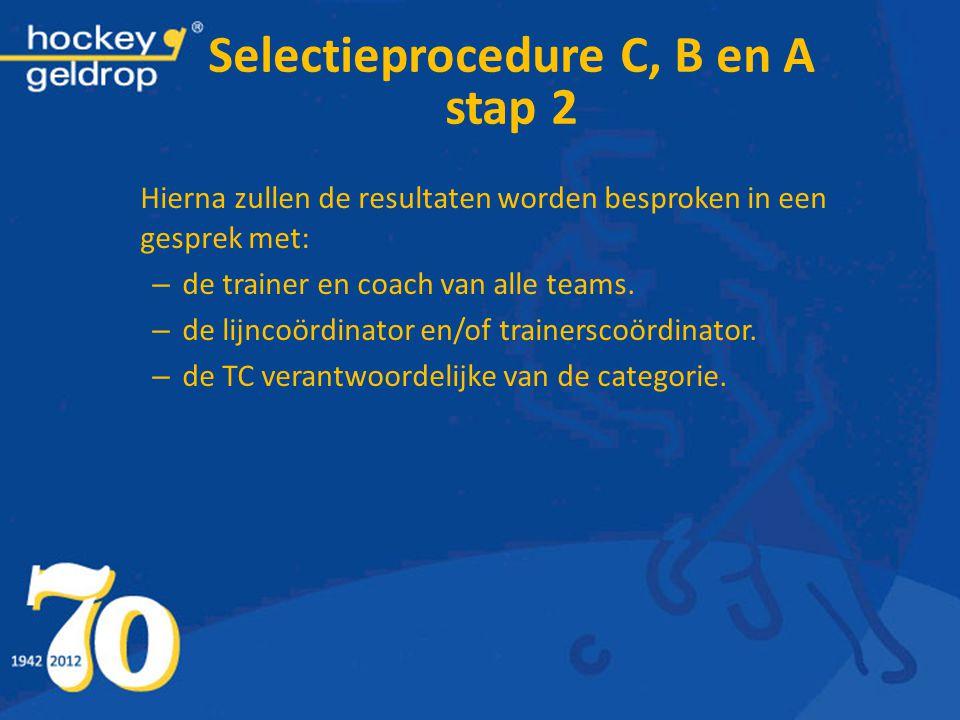 Selectieprocedure C, B en A stap 2