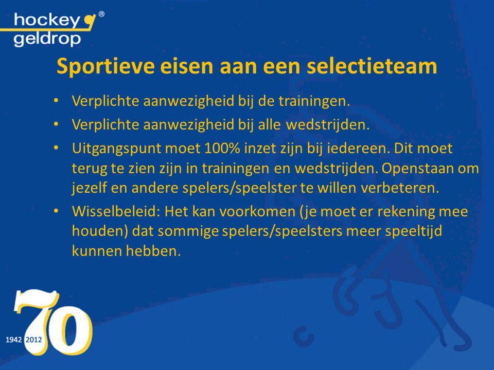 Sportieve eisen aan een selectieteam